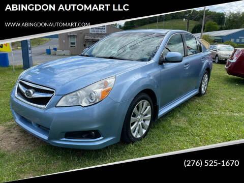 2011 Subaru Legacy for sale at ABINGDON AUTOMART LLC in Abingdon VA