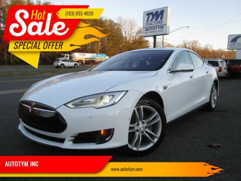 2014 Tesla Model S for sale at AUTOTYM INC in Fredericksburg VA
