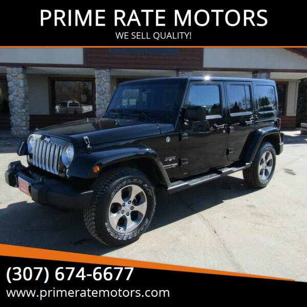 2018 Jeep Wrangler JK Unlimited for sale at PRIME RATE MOTORS in Sheridan WY