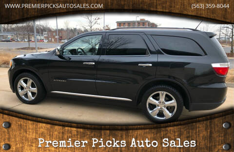 2012 Dodge Durango for sale at Premier Picks Auto Sales in Bettendorf IA