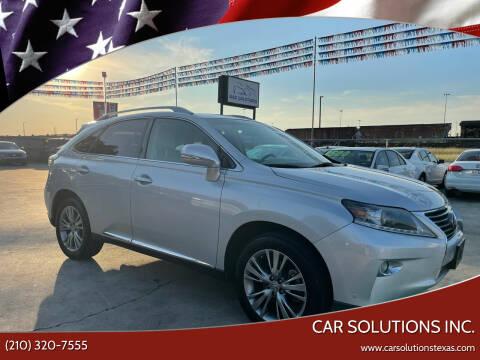 2013 Lexus RX 350 for sale at Car Solutions Inc. in San Antonio TX