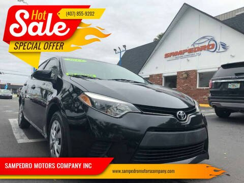 2014 Toyota Corolla for sale at SAMPEDRO MOTORS COMPANY INC in Orlando FL