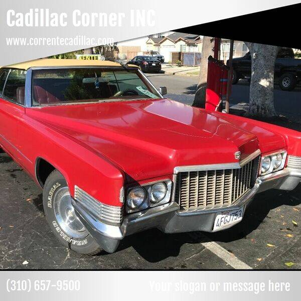 1970 Cadillac Convertible DeVille for sale at Frank Corrente Cadillac Corner in Hollywood CA