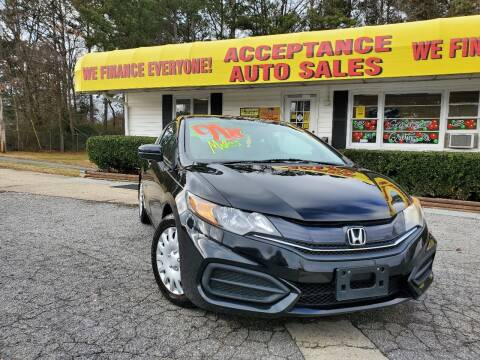 2015 Honda Civic for sale at Acceptance Auto Sales in Marietta GA