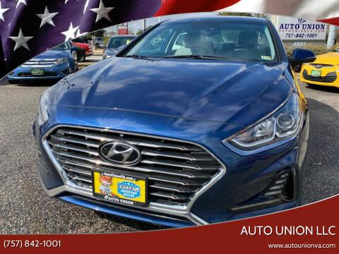 2018 Hyundai Sonata for sale at Auto Union LLC in Virginia Beach VA
