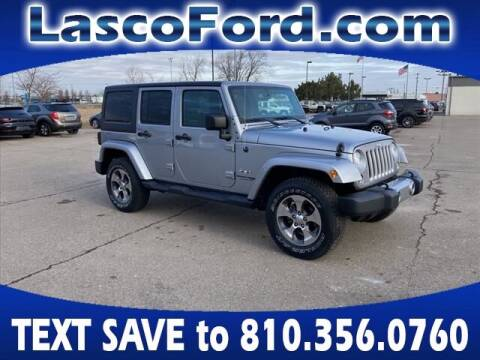 2018 Jeep Wrangler JK Unlimited for sale at Lasco of Grand Blanc in Grand Blanc MI