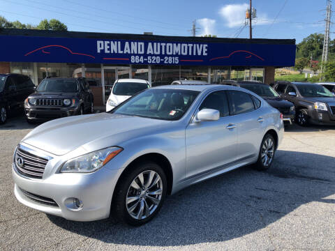 2013 Infiniti M37 for sale at Penland Automotive Group in Laurens SC