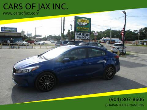 2017 Kia Forte for sale at CARS OF JAX INC. in Jacksonville FL