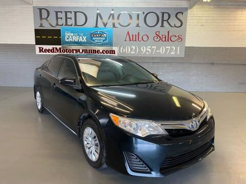2012 Toyota Camry for sale at REED MOTORS LLC in Phoenix AZ
