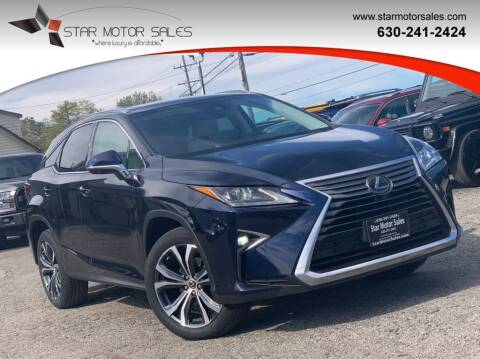 2019 Lexus RX 350 for sale at Star Motor Sales in Downers Grove IL