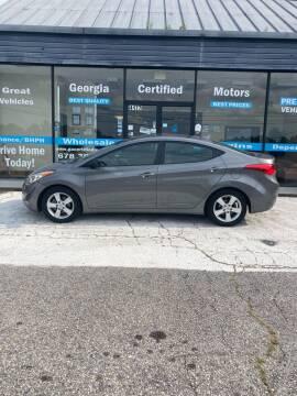 2013 Hyundai Elantra for sale at Georgia Certified Motors in Stockbridge GA
