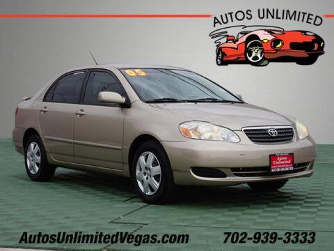 2005 Toyota Corolla for sale at Autos Unlimited in Las Vegas NV