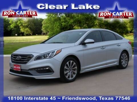 2017 Hyundai Sonata for sale at Ron Carter  Clear Lake Used Cars in Houston TX