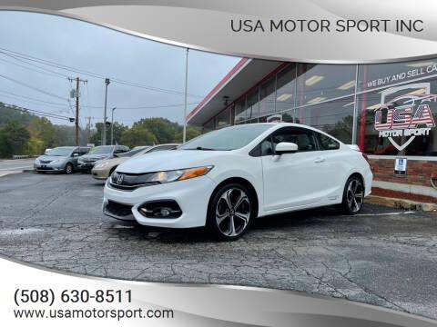 2015 Honda Civic for sale at USA Motor Sport inc in Marlborough MA