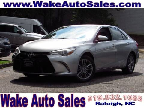 2016 Toyota Camry for sale at Wake Auto Sales Inc in Raleigh NC