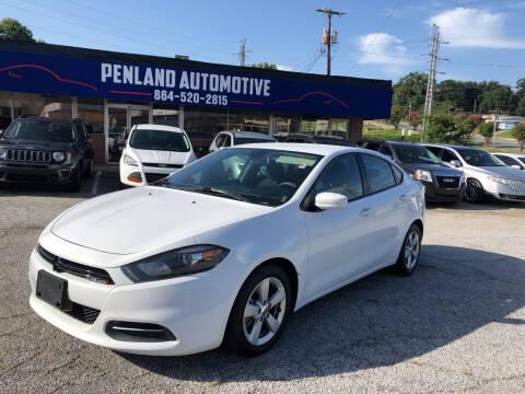2016 Dodge Dart for sale at Penland Automotive Group in Laurens SC