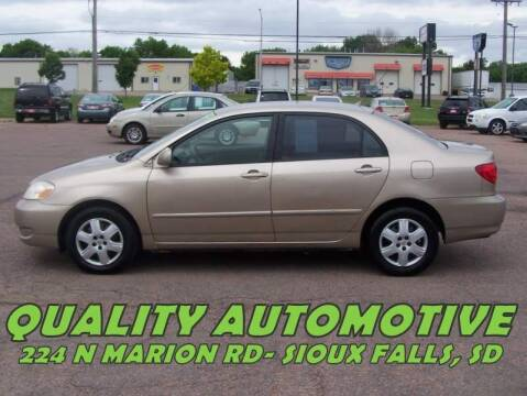 2005 Toyota Corolla for sale at Quality Automotive in Sioux Falls SD