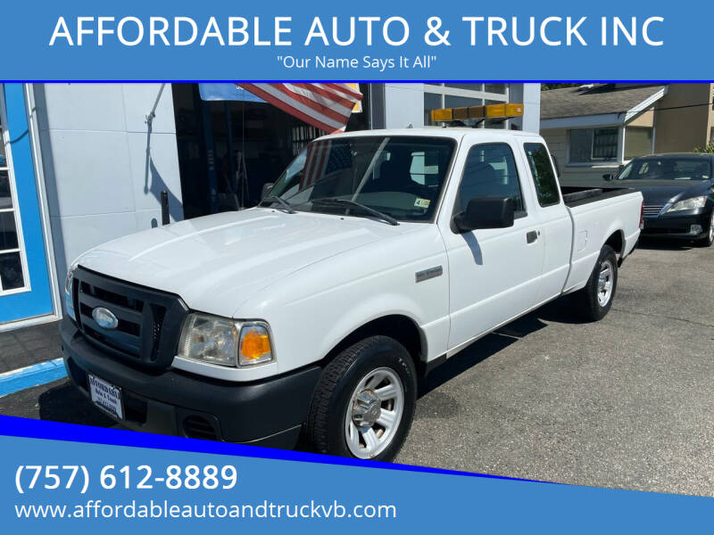 2009 Ford Ranger for sale at AFFORDABLE AUTO & TRUCK INC in Virginia Beach VA