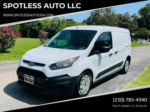 2015 Ford Transit Connect Cargo for sale at SPOTLESS AUTO LLC in San Antonio TX