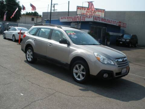 2014 Subaru Outback for sale at AUTO WHOLESALE OUTLET in North Hollywood CA