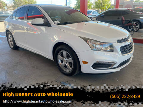 2016 Chevrolet Cruze Limited for sale at High Desert Auto Wholesale in Albuquerque NM