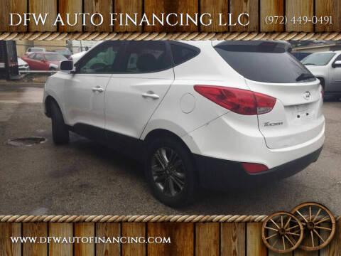 2014 Hyundai Tucson for sale at DFW AUTO FINANCING LLC in Dallas TX
