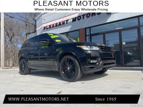 2016 Land Rover Range Rover Sport for sale at Pleasant Motors in New Bedford MA