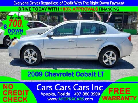 2009 Chevrolet Cobalt for sale at CARS CARS CARS INC in Apopka FL