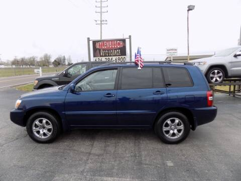 2005 Toyota Highlander for sale at MYLENBUSCH AUTO SOURCE in O` Fallon MO