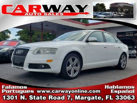 2008 Audi A6 for sale at CARWAY Auto Sales in Margate FL