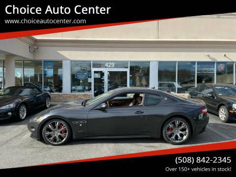 2012 Maserati GranTurismo for sale at Choice Auto Center in Shrewsbury MA