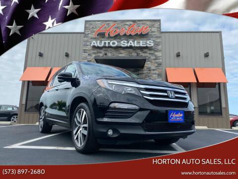 2017 Honda Pilot for sale at HORTON AUTO SALES, LLC in Linn MO