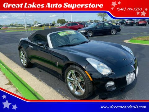 2006 Pontiac Solstice for sale at Great Lakes Auto Superstore in Waterford Township MI