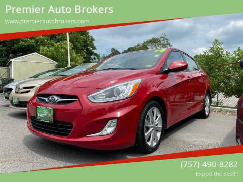2014 Hyundai Accent for sale at Premier Auto Brokers in Virginia Beach VA