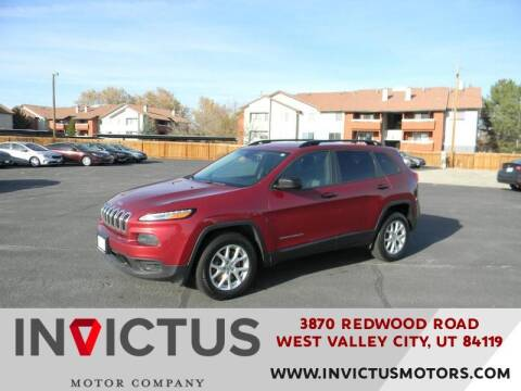 2016 Jeep Cherokee for sale at INVICTUS MOTOR COMPANY in West Valley City UT