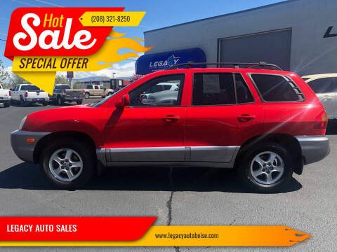 2003 Hyundai Santa Fe for sale at LEGACY AUTO SALES in Boise ID