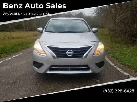2016 Nissan Versa for sale at Benz auto sales in Willis TX