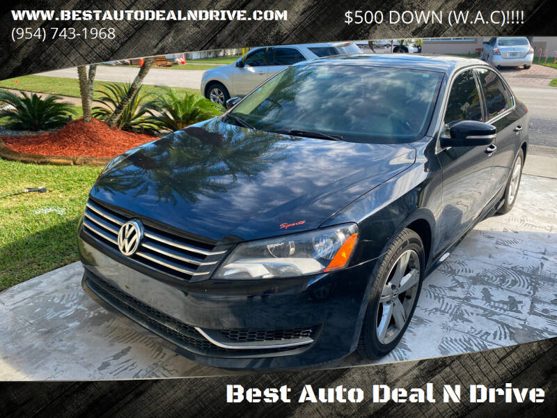 2013 Volkswagen Passat for sale at Best Auto Deal N Drive in Hollywood FL