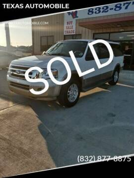 2011 Ford Expedition EL for sale at TEXAS AUTOMOBILE in Houston TX