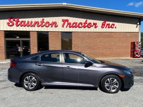 2016 Honda Civic for sale at STAUNTON TRACTOR INC in Staunton VA