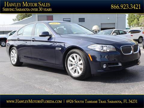 2015 BMW 5 Series for sale at Hawley Motor Sales in Sarasota FL
