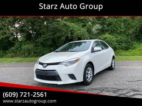 2015 Toyota Corolla for sale at Starz Auto Group in Delran NJ