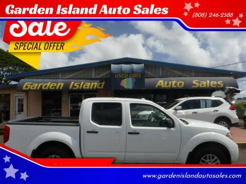 2016 Nissan Frontier for sale at Garden Island Auto Sales in Lihue HI