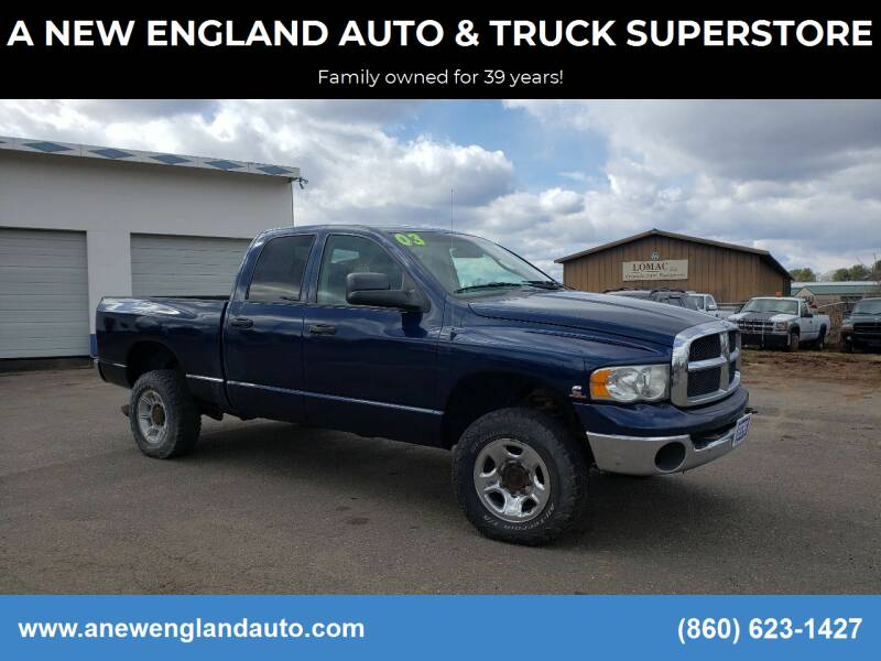 2003 Dodge Ram Pickup 2500 for sale at A NEW ENGLAND AUTO & TRUCK SUPERSTORE in East Windsor CT