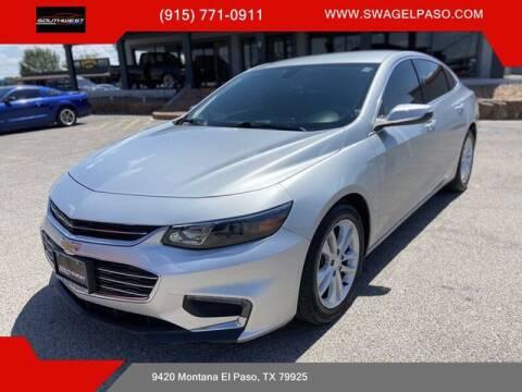 2016 Chevrolet Malibu for sale at SOUTHWEST AUTO GROUP-EL PASO in El Paso TX