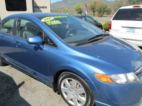 2008 Honda Civic for sale at Oregon RV Outlet LLC - Travel Trailers in Grants Pass OR