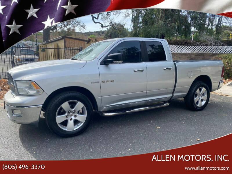 2010 Dodge Ram Pickup 1500 for sale at Allen Motors, Inc. in Thousand Oaks CA