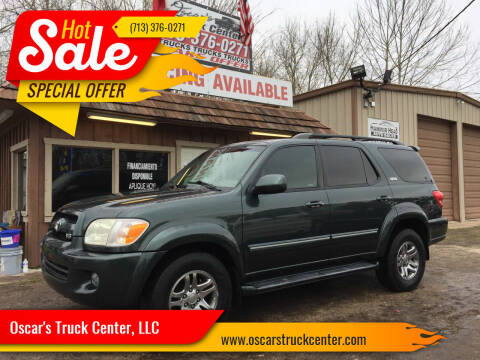 2007 Toyota Sequoia for sale at Oscar's Truck Center, LLC in Houston TX