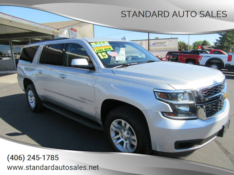 2015 Chevrolet Suburban for sale at Standard Auto Sales in Billings MT