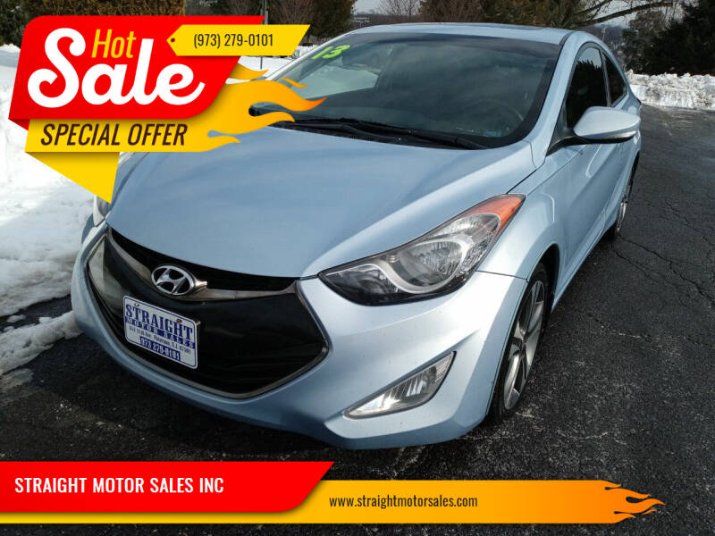 2013 Hyundai Elantra Coupe for sale at STRAIGHT MOTOR SALES INC in Paterson NJ